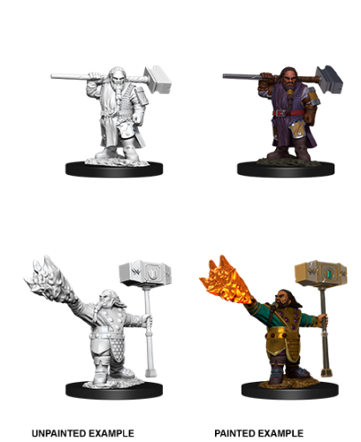 Male Dwarf Cleric: D&D Nolzur's Marvelous Unpainted Miniatures